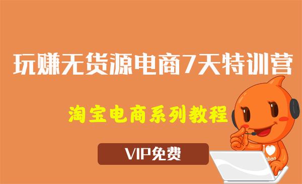 《玩赚无货源电商7天特训营》视频教程(7节)
