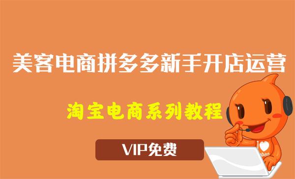 《美客电商拼多多新手开店运营适合小白入门》视频教程(13节)